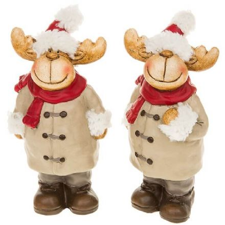 Medium Reindeer Set of 2 Figurines